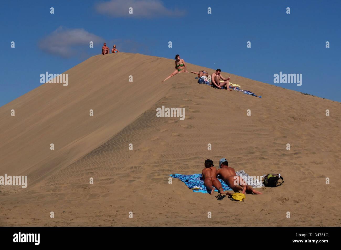 Maspalomas Playa del Ingles Spanien Kanaren Gran Canaria