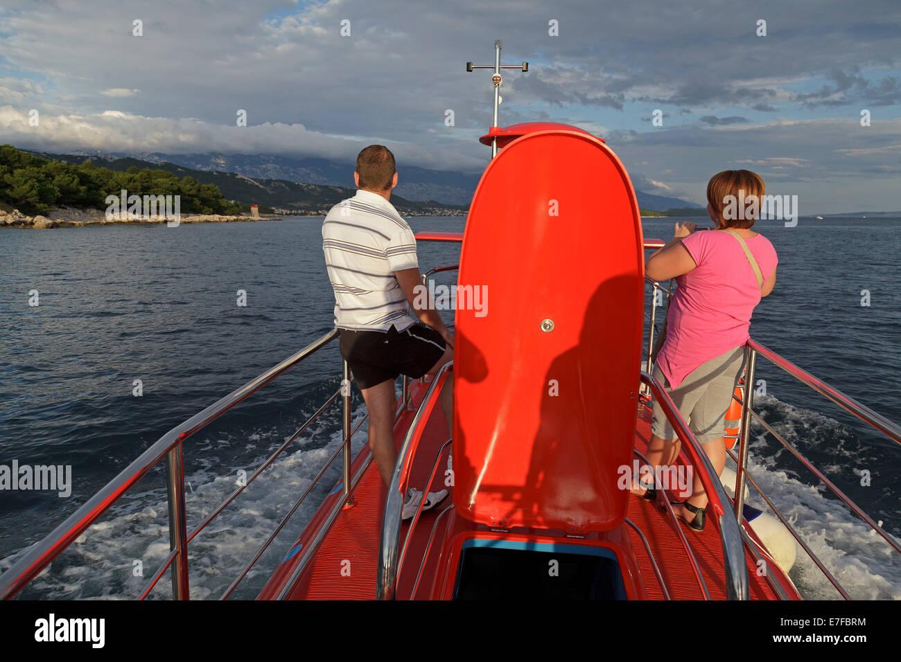 Ausflug mit dem halb-u-Boot, Stadt Rab, Insel Rab, Kvarner
