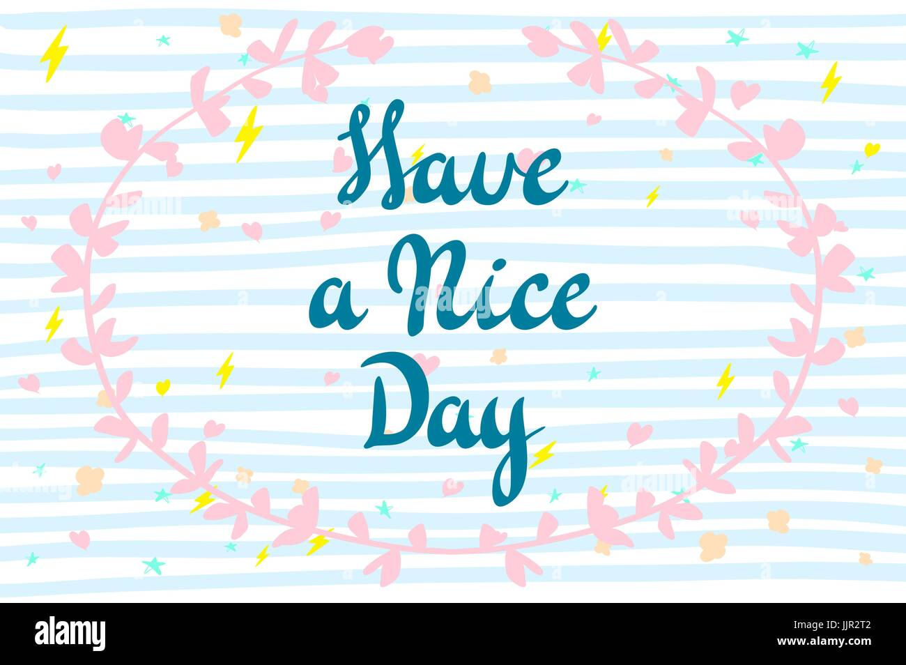 Ich wünsche dir einen schönen Tag. Vektor-Schriftzug für